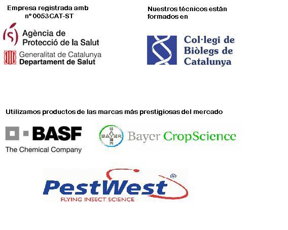 Titulacions i segells de garantia d'Ambinet Sanitat Ambiental
